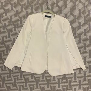 Zara White Blazer Cape